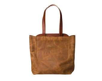 Women Leather Tote Bags - Brown Shoulder Bags - Everyday Large Carry All Bag - Tote Bag - Leather Handbag - Macbook Bag - Gifts For Her