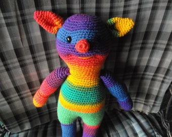 "16"" crochet rainbow Ogre"