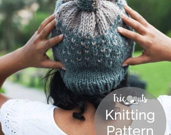 Knitting Hat Pattern, Coco Alpines Hat Pattern, Knitting Pattern, Ombré Hat Pattern, Knitting Pattern For Women.