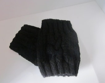 Cable Knit Boot Cuffs