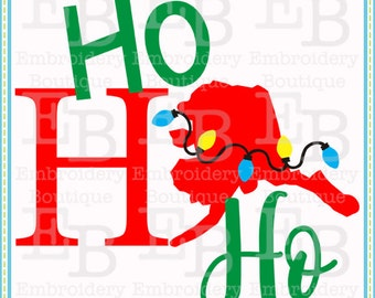 Ho Ho Ho Alaska SVG - This design is to be used on an electronic cutting machine. Instant Download