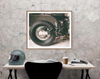 Motorcycle Wall Art, Custom Honda CX Cafe Racer Fine Art Photo Print, Wall Decor, Wall Art, Motorcycle gift Ideas,