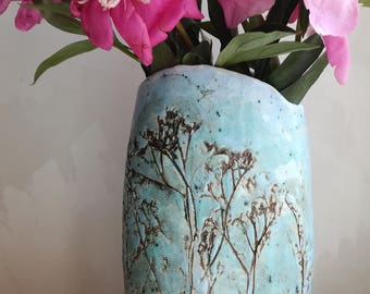 "Vase ceramic ""motley grass"""