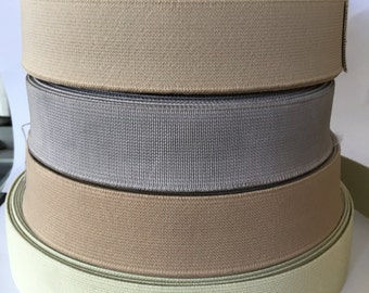 3 cm (1.2 in) wide neutral colors elastic waistband