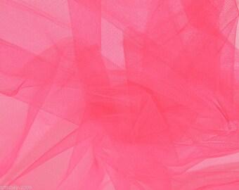 Tulle Netting Dress Fabric 140cm Wide 30 Colour Range - Flo Rose