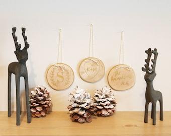 Personalized Birch Ornaments