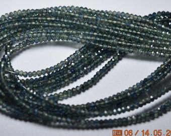 16 Inches Strand, Till Green Sapphire Smooth Rondelles, Size 2.50-2.70MM