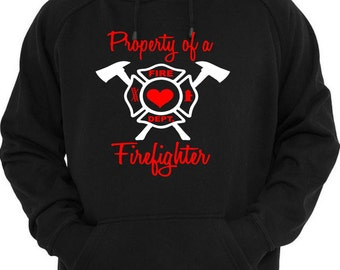 Firefighter Hoodie, Firefighter Husband, Fire Wife Shirt, Firefighter Wife, Proud Wife, Custom Gift, Love My Firefighter, Fire Girlfriend