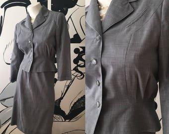 Duchess Royal Gray Herringbone 2 Piece Suit