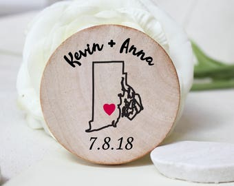 Save the date magnet  wooden save the date magnets Rustic Wedding wood magnets - Custom Save the date - Wedding Favor Wood Magnets