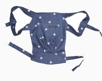 Doll Carry/Doll backpack star Blue