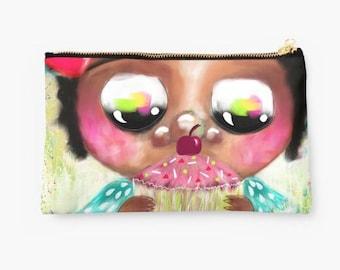 Purse Pouch - Make up bag - Pencil Case - Crescent Moon