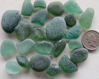 English sea glass colour (CHIPPED) all shades of teal 23 pieces