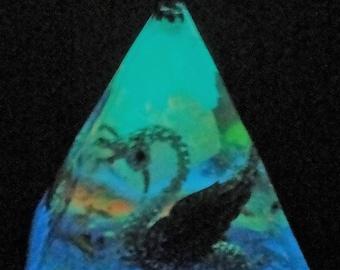 """Swan Melody 5 X 4"""" Glow in the Dark Orgone Pyramid (100mm x 125mm) Crystal Energy"""