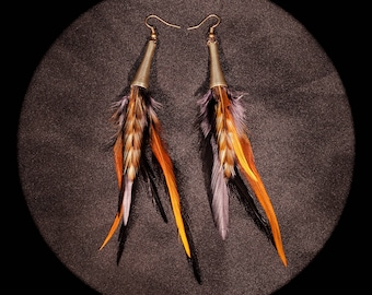 Feather Bohemian feather earrings