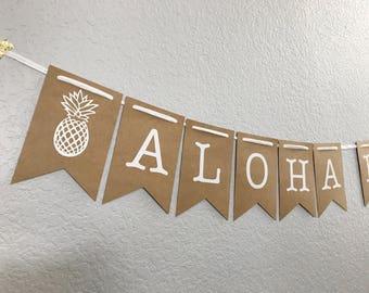 Aloha Beaches Banner   Destination Wedding Decor