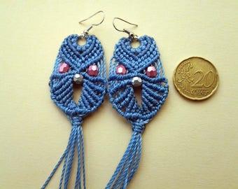 Macrame OWL earrings