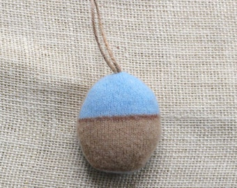 Brown and Blue Easter Egg Ornament, Easter Ornament, Easter Egg, Easter Decor