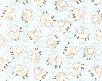 Sweet Sheep - Fabric by the Yard By Timeless Treasures- Cotton- C5821