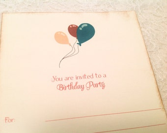 Birthday Party Balloon Invitations for Boys or Girls-DIY Birthday Party Invitations
