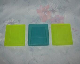 Vintage Nintendo Game Boy les coques en plastique pour jeux - jaune, bleu - tiers/Compatible - lot de 3