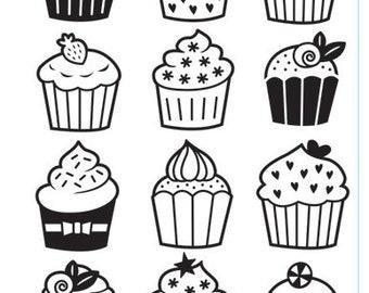 Cupcakes Embossing Folder