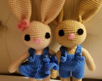 Crochet amigurumi bunny Valentine