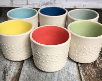 Modern studded espresso cup - made to oder - clay mug - handmade cup - pottery mug - modern ceramic mug - handmade mug - minimalist pottery