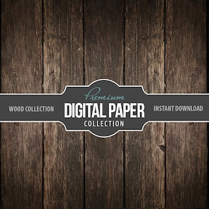Digital Photography Backdrop Paper - Digital Background Brown Panel Rustic Wood - Wood Background Paper 12x12 - Printable INSTANT DOWNLOAD