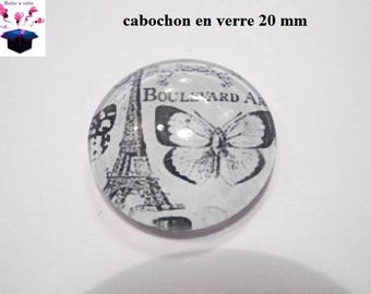 1 cabochon clear 20mm vintage theme