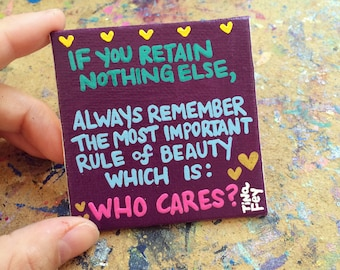 Tina Fey quote // Who Cares?