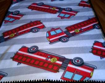 Fire Trucks baby Blanket 36 by 30 inches