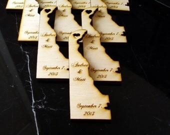 100 Delaware Wedding Favors Custom Engraved