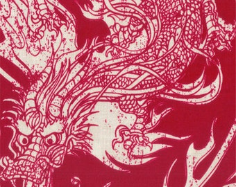 Year Of The Ninja by Scott Jarrard Illustration for Riley Blake Designs - C4191 Red - 1/2 yard cut