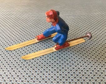 Vintage Lead Snow Skier Toy