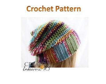PDF Slouch Hat Pattern, Slouchy Hat Tutorial, Crochet Slouchy Pattern, Double Brim Pattern, Beanie Hat Pattern,Tam Tutorial,Instant Download