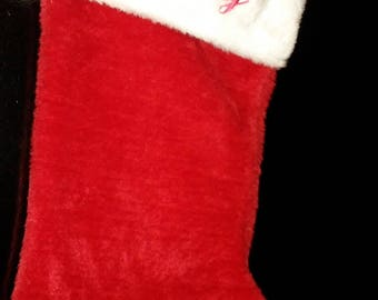 Personalized Red Plush Christmas Stocking