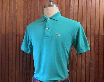 70s Lacoste Medium Chemise Short Sleeve Polo Shirt Men's Vintage Made In France