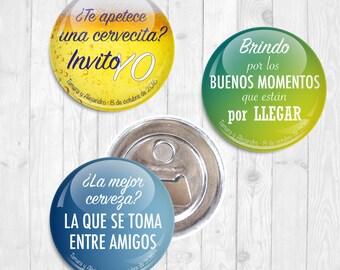 Abrebotellas con frases para Boda / Bottle openers for Wedding