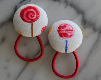 Lollipop pony tail holders make adorable party favors, gifts or everyday hair accessories!