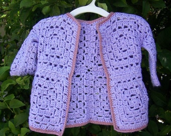 Granny Square Baby Sweater Pattern Instant Download Digital File