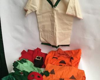 Vintage 1960's Halloween and Christmas Kids Costumes