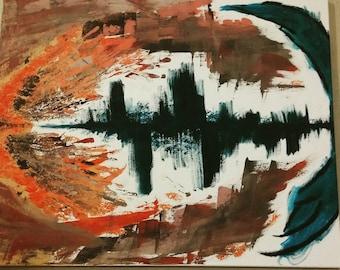 Large wall art, acrylic on canvas, Modern art, Abstract art, original: Juno