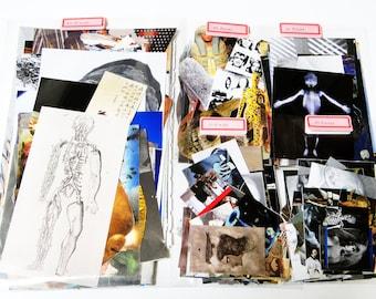 100+ Vintage Ephemera Grab Bag  - Collage Assemblage,Scrap pack,Collage Materials,Art Journaling Supplies,Glue book,ATC,Tag art