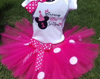 Minnie Mouse Tutu Outfit.