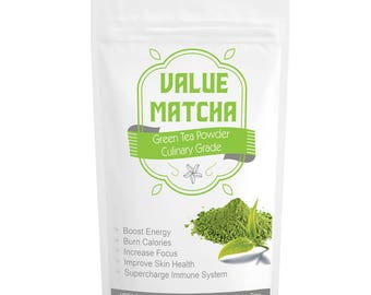 Value Matcha USDA Organic, Culinary Grade, Finest Quality, Perfect for Lattes and Frappes, Great for Beginners- FREE USA Shipping