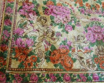 Velvet gypsy bedspread italian bedspread floral carpet velvet sofa  vintage velvet bedding Velvet   floral bedspread  rug plush blanket
