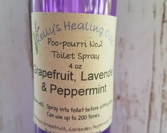 POO-POURRI SPRAY Grapefruit, Lavender, & Peppermint,made with DoTerra essential oils,lavender,linen dress,essential oil,gift for her