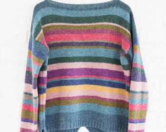 Wool striped pullover