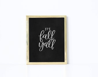 Instant Download - Fall Ya'll Print - Fall Print - Printable - Fall Print - Autumn Print